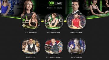 888 Payer des récompenses bonus aux joueurs de croupier en direct!